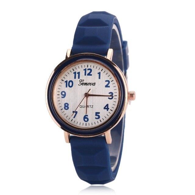 2016 GENEVA Sports Quartz Watch Women Silicone Rubber Jelly Gel Analog Watches G