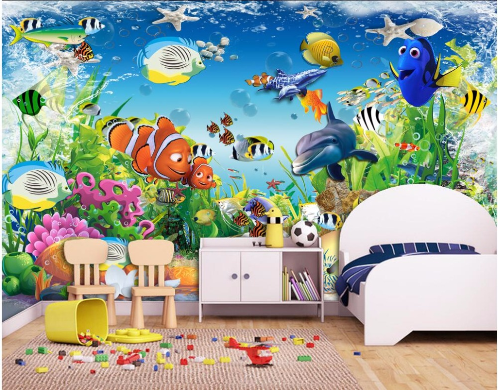WDBH custom mural 3d photo wallpaper on a wall sea dolphin fish children's room home decor 3d wall murals wallpaper for wall 3 d wdbh custom mural 3d photo wallpaper gym sexy black and white photo tv background wall 3d wall murals wallpaper for living room
