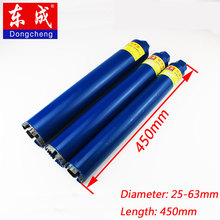купить 25-63mm Diamond Core Drill Bit 450mm Wall Concrete Perforator Masonry Drilling For Water Wet Marble Granite Wall Drilling Tools дешево