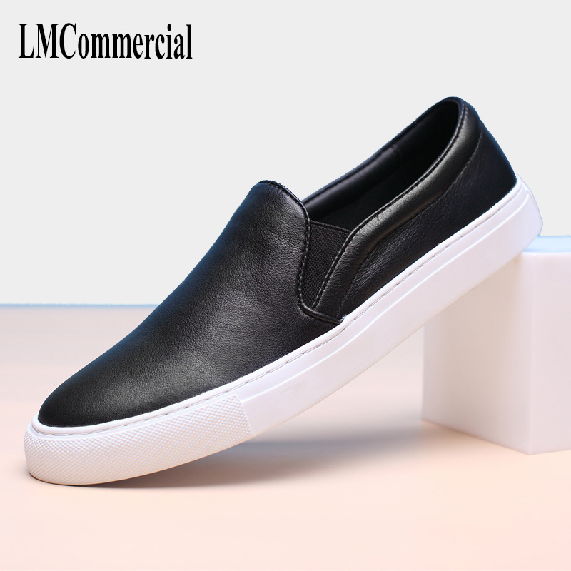 2018 new leather loafer leisure shoes men spring and autumn British retro men shoes All match cowhide Doug loafer Driving male men leather shoes comfortable breathable shoes doug tide set foot casual shoes new autumn winter british retro