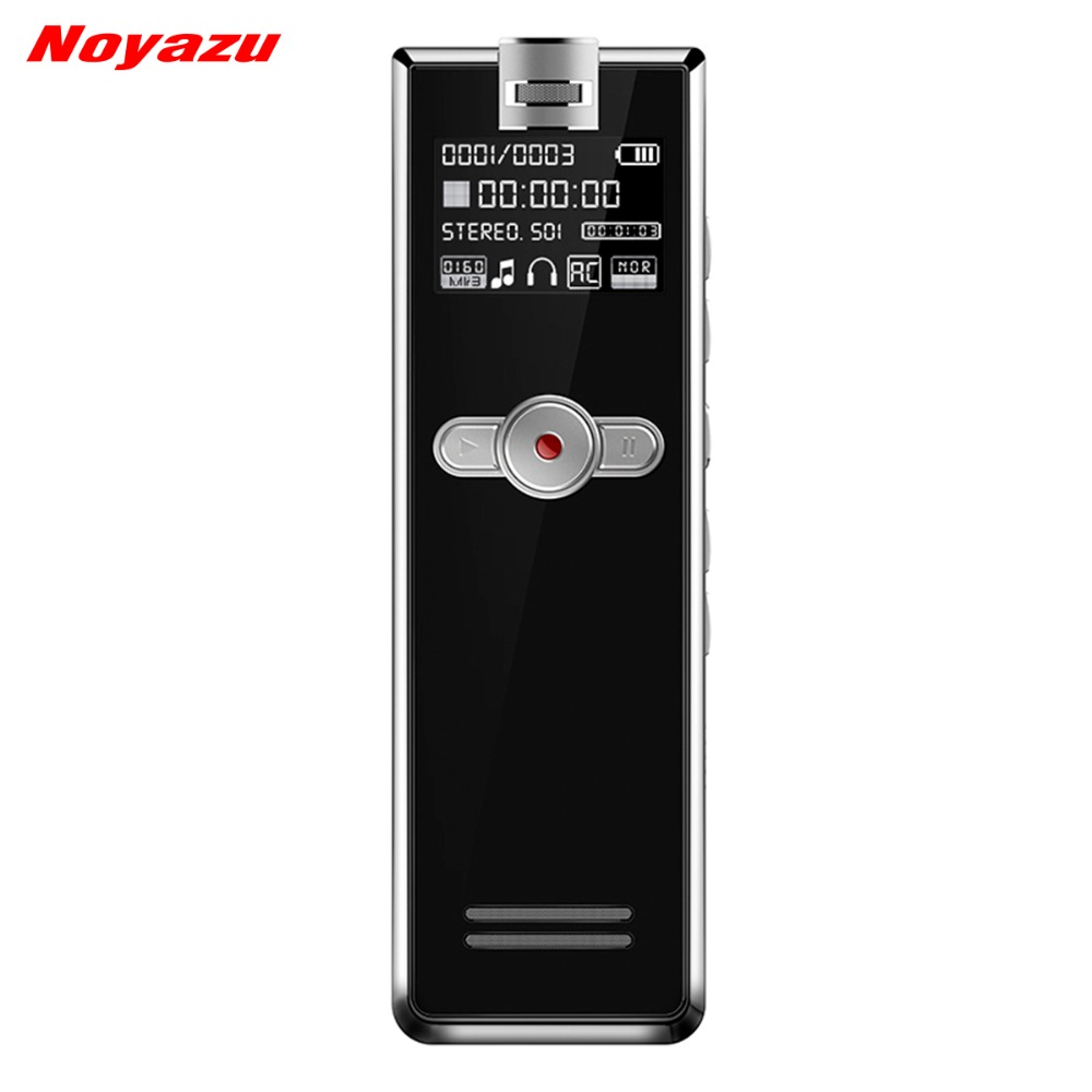 Noyazu F2 16 GB Mini Professionnel Numérique Audio Voix Activé Enregistreur Enregistreur PCM Linéaire Dispositifs pour Conférence MP3 Lecteur