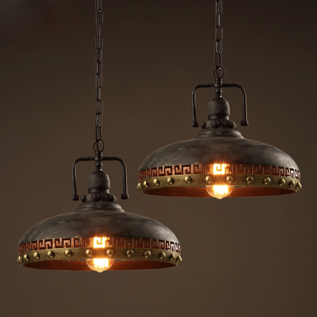 Retrò in ferro battuto ristorante cafe loft lampada a sospensione ...