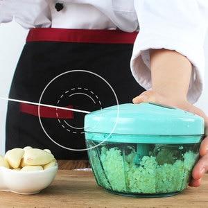 LUCOG Powerful Household Meat Grinder Hand-power Food Chopper Mincer Mixer Blender to Chop Meat Fruit Vegetable Nuts Herbs