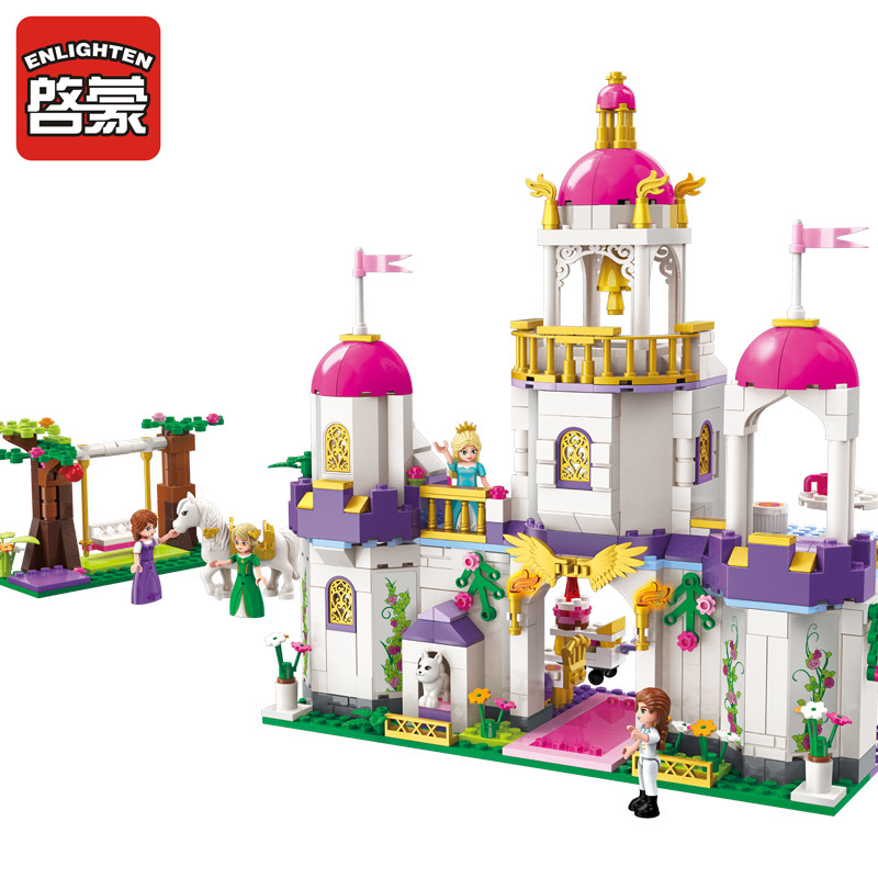 2610 ENLIGHTEN Girls Friends Princess Leah Brithday Party House Model Building Blocks Figure Toys For Children Compatible Legoe princess ponies 6 best friends for ever