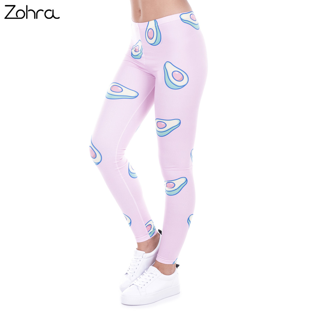 Zohra Marque De Mode Imprimé Femmes Legging 100% Tout Neuf Leggings Avocat  Rose Leggins Sexy Slim Legins Taille Haute Femmes Pantalon dans Leggings de  Mode ... 3f78e5b0162