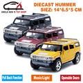 14 СМ Длина Diecast Humvee Модель, миниатюрный Hummer Автомобиль, дети Мальчики Toys With Pull Back Function/Музыка/Свет/Открывающиеся двери