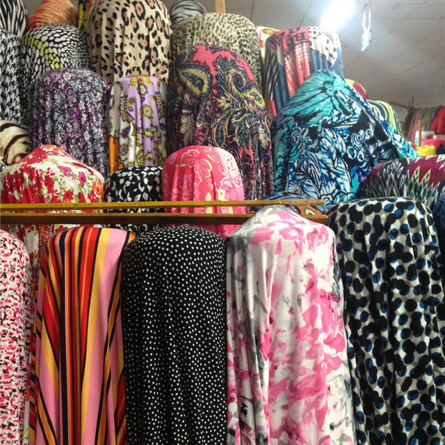 10138090470 4-way stretch Soft Korea Knit Material Soft Polyester Lycra Fabric Print