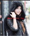 Solid Adult Fur Freeshipping The Scarf Autumn/winter Female 2014 Women Fashion Mink Hooded Scarf Warm Wind Long Cloak Shawl