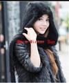 Solid Adult Fur Freeshipping The Scarf Autumn/winter Female 2014 Women Fashion Mink Hooded Scarf Warm Wind Long Cloak Shawl
