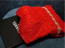 free shipping casamento crystal women vestido de noiva 2014 new fashion sweetheart romantic red long lace mermaid wedding dress