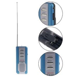 Image 2 - Mini Portable Auto Scan FM Radio Receiver Clip With Flashlight Earphone DK 8808
