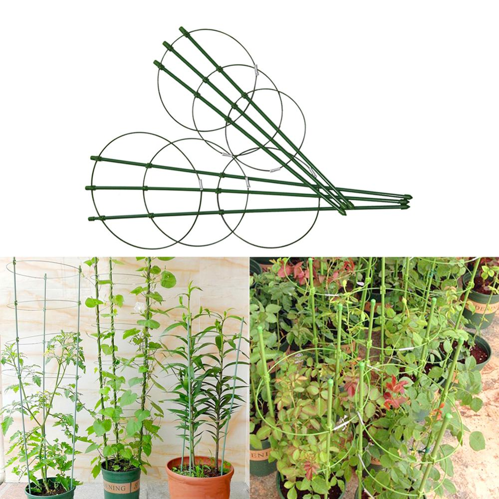1 Pc Durable Creative Climbing Vine Rack 45cm/60cm Plastic Coated Iron Plant Support Frame Garden Balcony Plant Flower Trellis