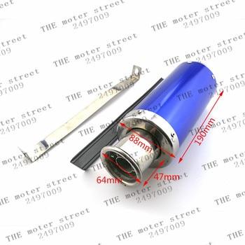 Tubo de escape azul tubo escape moto escape de moto de cross atv quad 110cc gy6 150cc 125cc escape envío gratis