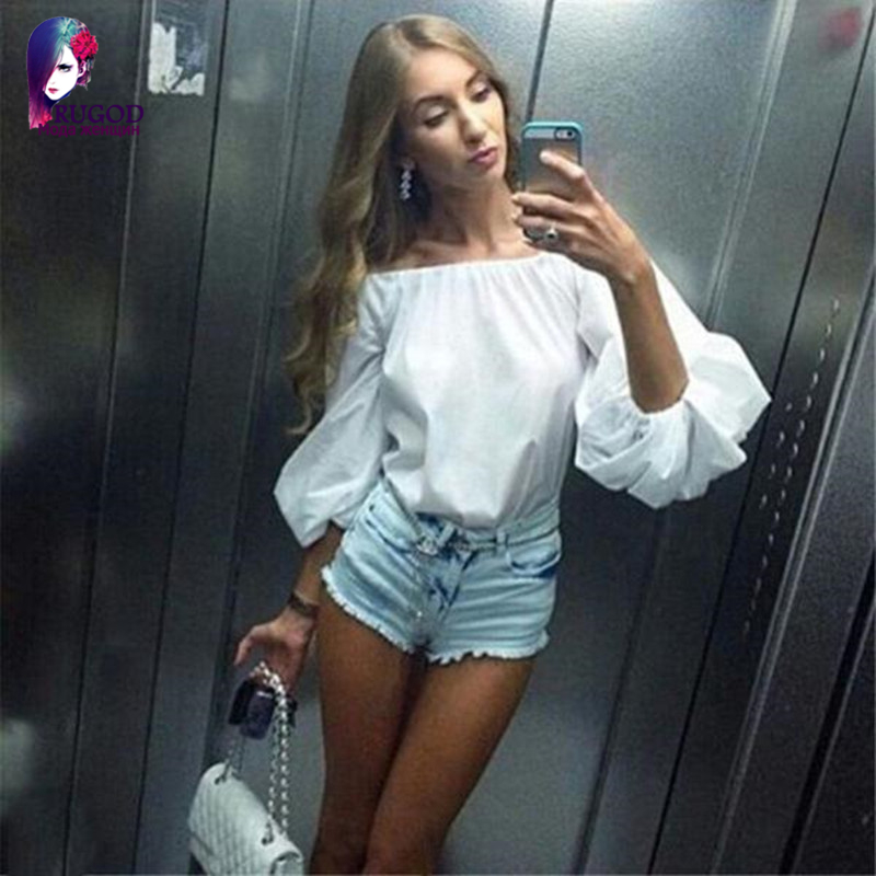 Blusas 2020 summer style new women blouses plus size Sleeve Off Shoulder sexy woman blouse women tops OL good quality
