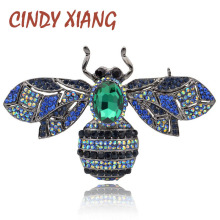 CINDY XIANG New Arrival Rhinestone Large Bee Brooches for Women Insect Fashion Jewelry Cute Vintage Pins High Quality 2018