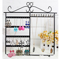 Earrings Ear Studs Necklace Jewelry Display Rack Metal Stand Organizer Holder Packaging