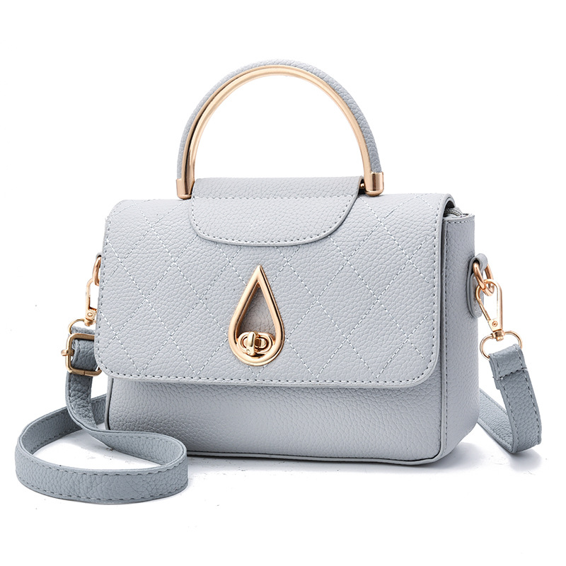 Leisure spring and summer new handbags small square hand bag Water drop design shoulder crossbody bags for women 2018