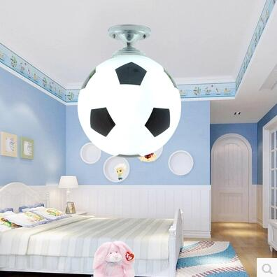 Basketball or football ceiling lamp children room cute ball basketball or football ceiling lamp children room cute ball lampshade light living room pub hotel decoration lighting d200mm in ceiling lights from mozeypictures Images