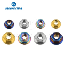 Wanyifa Titanium M5 M6 M8 Flange Nut Rainbow Blue Gold Color for Bicycle Disc Brake