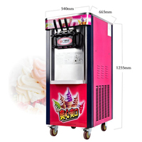 26L/H Vertical Ice Cream Machine, Gelato Machine, BJ218C Ice Cream Maker,Soft Ice Cream Machine 2000W 220V 50HZ