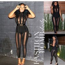 Sexy Mesh Bodycon Party Bandage Rompers Jumpsuit