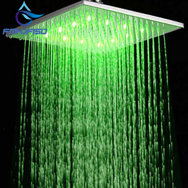 "Hot Sale Wholesale And Retail LED 10"" Square Rain Shower Head Wall Ceiling Mounted Top Over-head Shower Sprayer"