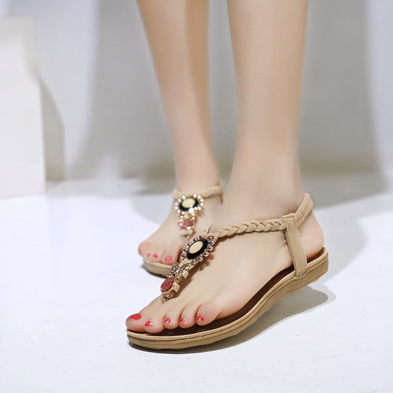 63a3fd804f7ef Quanzixuan Women Sandals Ankle Wrap Summer Shoes Women Flat Sandals-in Women s  Sandals from Shoes on Aliexpress.com