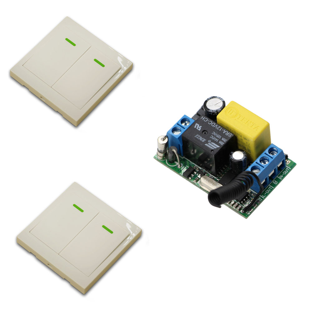 New Remote Control Switch AC220V Receiver Wall Transmitter Wireless Power Switch Radio Controlled Switch Relay 315Mhz 433Mhz ac 220v 10a wireless remote control switch 1ch relay receiver module wall transmitter radio light switch fixed code 315 433mhz