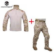Emersongear bdu Combat uniform shirt & Pants & knee pads Military Army uniform MultiCam  Arid EM9255+7042