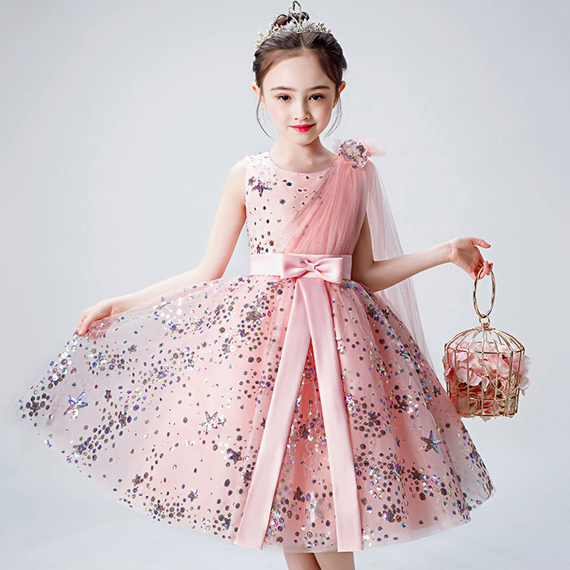 Sequined Beading First Holy Communion Dress Bling Stars Flower Girl Dresses for Wedding Ball Gown Princess Party Dress B473Sequined Beading First Holy Communion Dress Bling Stars Flower Girl Dresses for Wedding Ball Gown Princess Party Dress B473