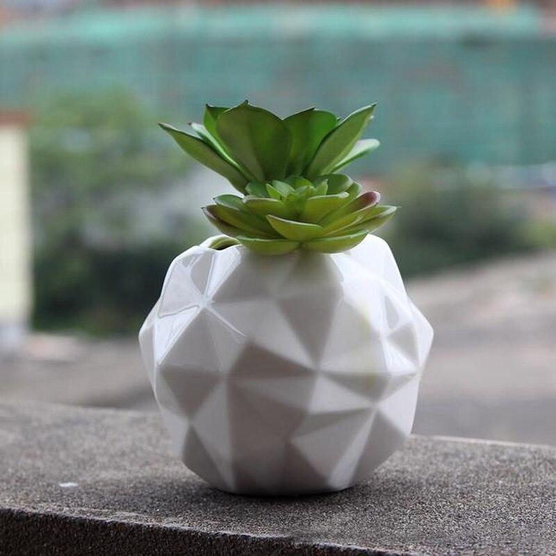 unid diseo geomtrico decorativo jarrn de cermica de porcelana elegante flor jarrones para la decoracin