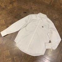 Летняя белая блузка женская элегантная Офисная Женская блузка с длинным рукавом 2019 модная Высококачественная хлопковая блузка
