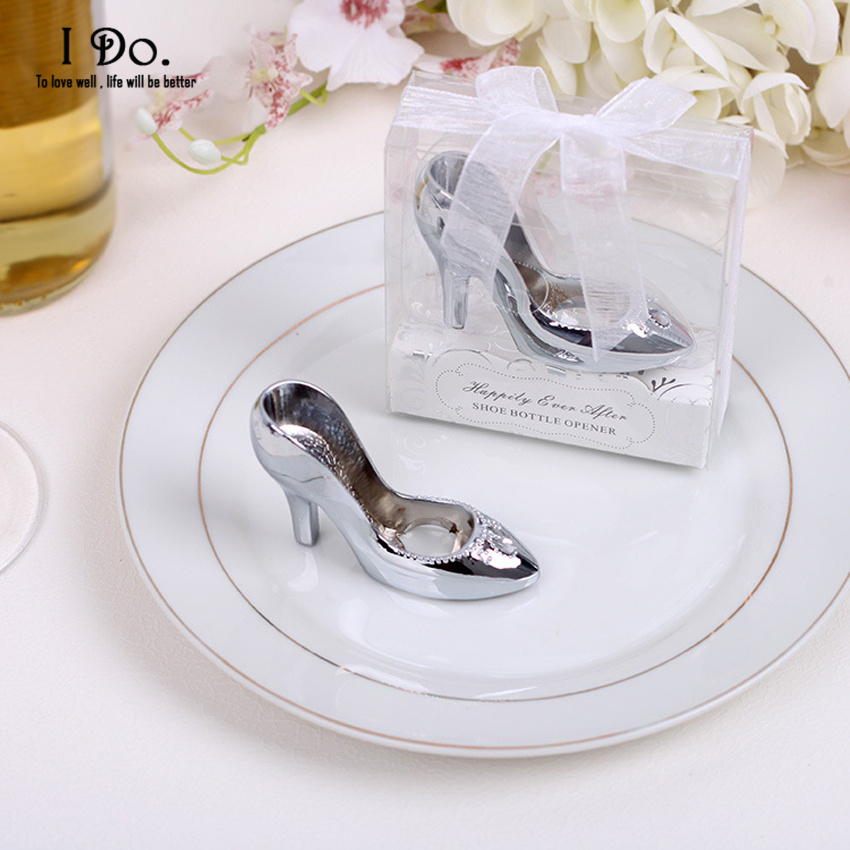 buy free shipping cinderella shoe bottle opener wedding favors and gifts. Black Bedroom Furniture Sets. Home Design Ideas