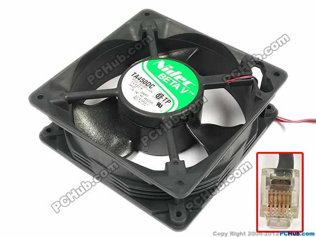 Nidec B33534-33A, FRU P/N:930339 DC 24V 0.45A 6-pin 120x120x38mm Server Square fan