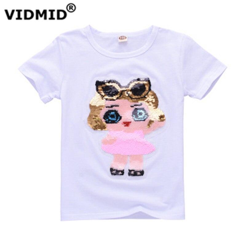 VIDMID T-Shirt Clothing Short-Sleeve Sequins Baby-Boys-Girls Kids Cotton Children's New