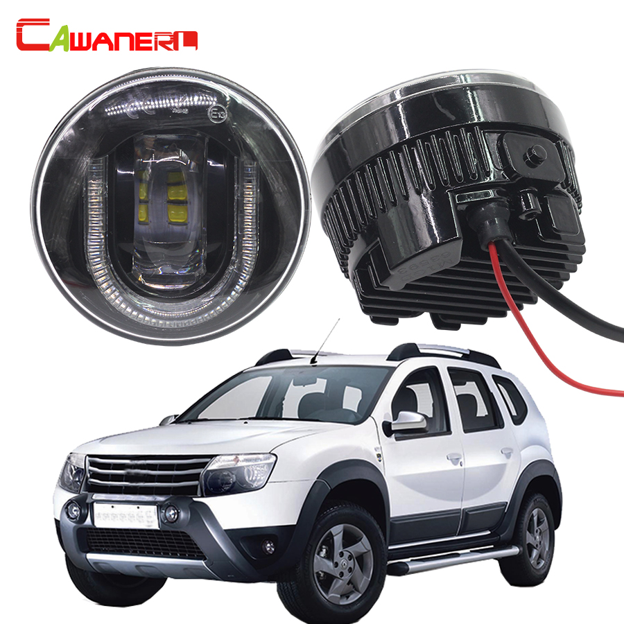 Cawanerl 2 X Car Styling LED Front Fog Light DRL Daytime Running Lamp 12V For 2012-2015 Renault Duster SUV car styling front lamp for t oyota for tuner 2012 2013 daytime running lights drl