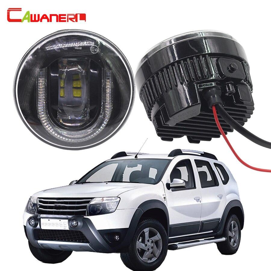 Cawanerl 2 x стайлинга автомобилей светодиод спереди туман свет DRL дневные Бег лампа 12 В для 2012 2015 Renault duster внедорожник