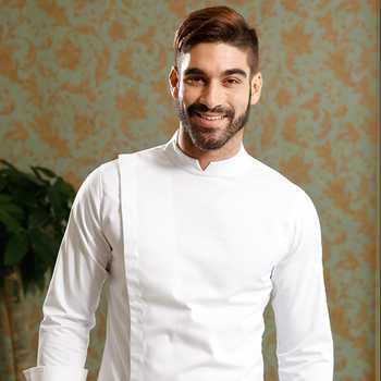 2020 new arrival restaurant uniform French head chef jacket with French cufflinks