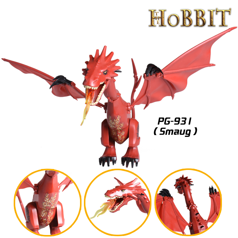 Smaug Building Blocks The Lord of the Rings Hobbit The Lonely Mountain Dol Guldor Battle diy figures Bricks Education Kids Toys pg931 the hobbit desolation of smaug 79018 the lonely mountain dol guldor battle building blocks educationa compatible with lpin