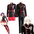 Anime D.Gray-man Linali Lenalee Lee Allen Walker Cosplay Costume Black School Uniform Qutfit Suit Full Set
