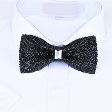 New bow tie crystal bling butterfly knot  for men wedding banquet feast club party bridegroom shinning