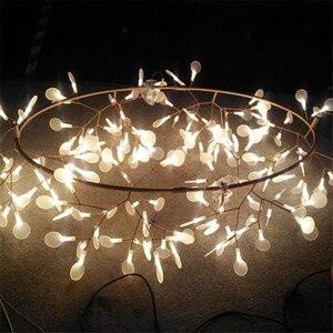 Image 4 - Lampe suspendue circulaire suspendue en forme de feuille darbre luciole, design moderne, éclairage dintérieur, luminaire décoratif, idéal pour un Bar ou un Restaurant, AL127B, lampe à LED