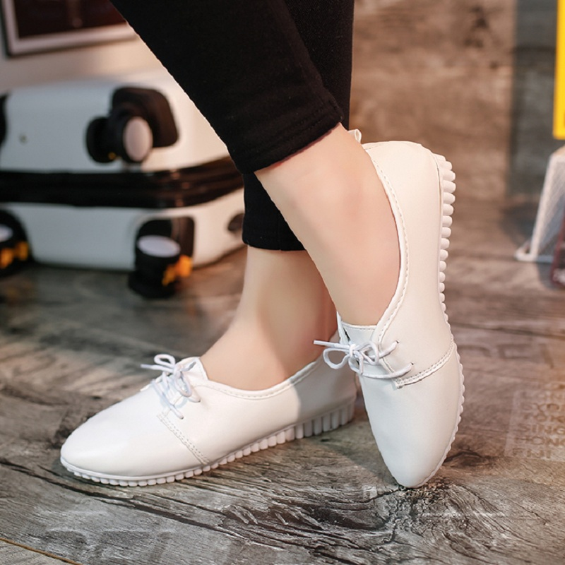 2016 Newest Style Fashion Women Flat Shoes White Black Rubber Work Office Flats For Spring Autumn X999 15 In S Vulcanize