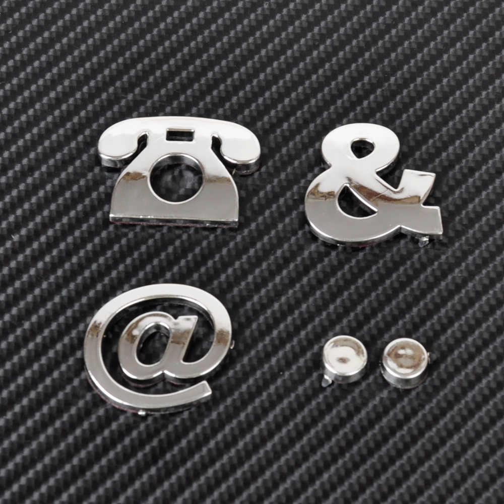 سيارة السيارات DIY إلكتروني الأبجدية عدد ملصقات شعار لكيا ريو K3 K4 K5 سبورتاج سورينتو venga هيونداي أفانتي سوناتا