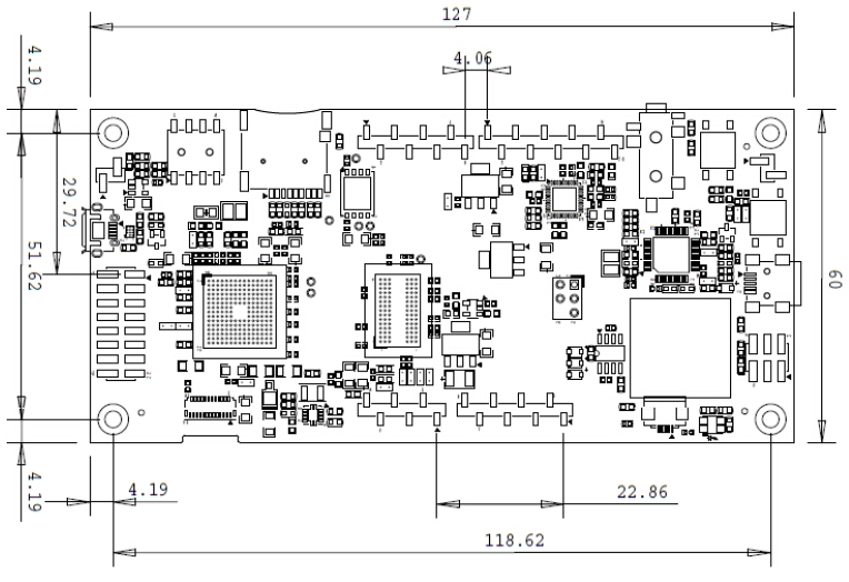 STM32F469I-DISCO board dimensions