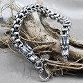 Тайский серебряные ювелирные изделия стерлингового серебра 925 дракон браслет мужской властную натуру ретро способа Цепи & Link браслеты