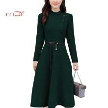 Knitted Dress Solid Color Commuter Dress 4 colors Vintage Dresses Plus Size 2018 Hot Sale Dress