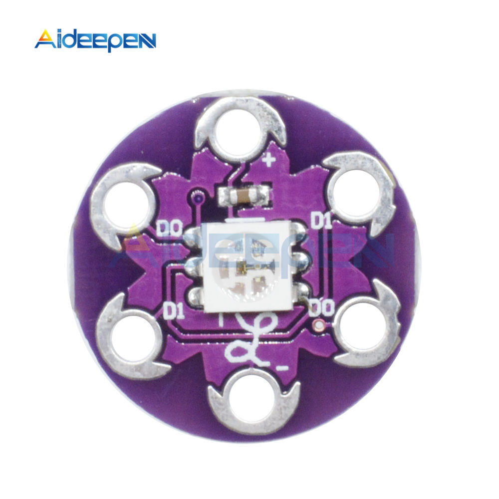 Measurement & Analysis Instruments 5pcs Lilypad Pixel Board Ws2812 Module Lilypad Led Module For Arduino Relieving Heat And Sunstroke