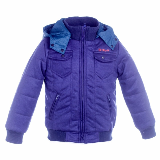 Winter Jackets for Boy Wind-proof Zipper With Cap Kids Outerwear New Casual Cotton Children's Jacket 3-15 Years Old
