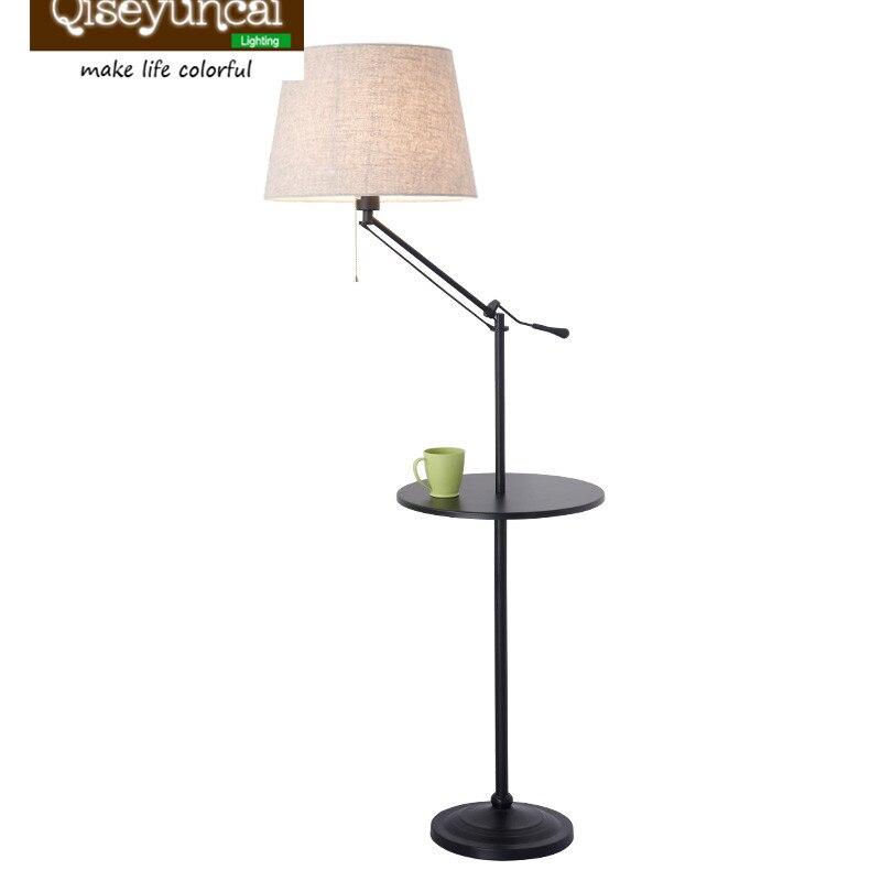 Qiseyuncai 2018 salon Américain en fer forgé lampadaire lumière simple moderne chambre de chevet canapé table basse lampe